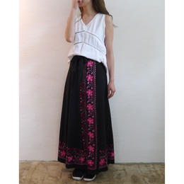 euro hand embroidery wrap skirt