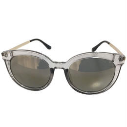 clear frame  mirror sunglasses