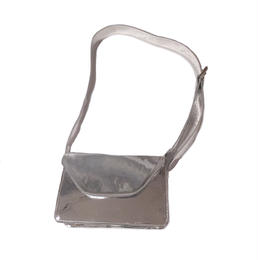 metallic thick strap squre bag