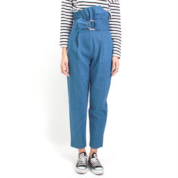 sash belt  high-waist pants