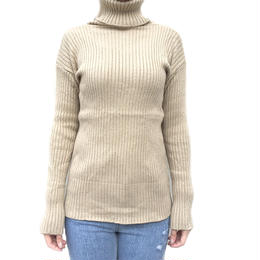 rib turtleneck knit