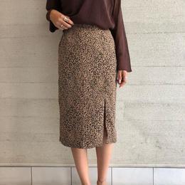 leopard pattern middl skirt