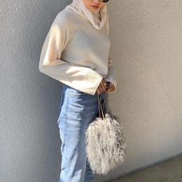 turtleneck knit cut tops