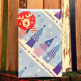 【12月31日まで無料】ギフトラッピング(クリスマスブルーツリー柄)