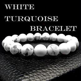 天然石 ブレスレット ホワイト ターコイズ