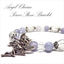 天使の腕輪♪ アクアマリン 水晶 パワーストーンブレスレット