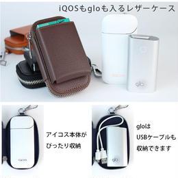 iQOS glo ケース レザー 電子タバコ glo専用 iQOS専用 レザーケース アイコス グロー iqos カバー