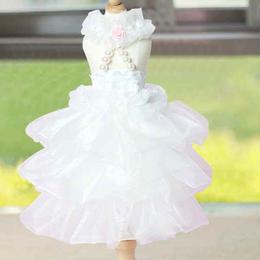 新作ウエディングドレス★可愛い犬服★人気★ペット用品★ピンク、ホワイト