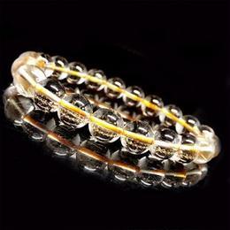 天然石 ブレスレット ルチルクォーツ 金針水晶 約9mm
