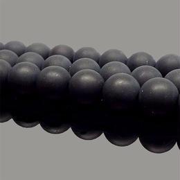 天然石 ビーズ フロストオニキス 黒瑪瑙 艶消 連売り 10mm