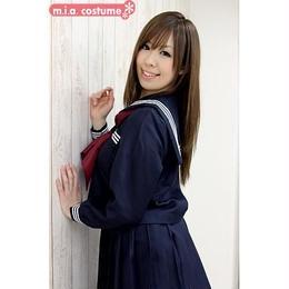 長袖セーラー服セット サイズ:M 色:紺 ■冬服セーラー■