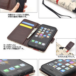 <アイフォン8/7/6s/6用>iPhone 6/6s/7/8用 \にゃー!/マーチキャットケースポーチ
