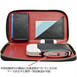 IQOS アイコス 専用 ケース メッシュ型押しデザイン クリーナー 収納可 長財布型 IQOSケース