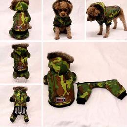 パーカー つなぎ両用犬服  ワンちゃん服 ドッグウェア 犬 犬の服