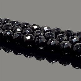 天然石 オニキス 64面カット 黒瑪瑙 連売り