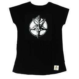 △WHITEプリント△バフォメットAラインTシャツ(17Z-06)