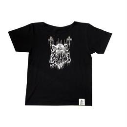 【ラインストーンお好きな色に】トリプルアイズスカルBigTシャツ(16Z1-1005)