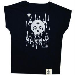 スカルハートドルマンTシャツ(16Z2-1001)BLACK