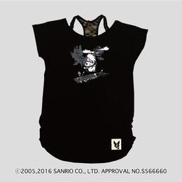 Zsama×KuromiコラボTシャツ=黒=(16Z1-1003)