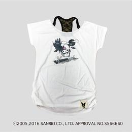 Zsama×KuromiコラボTシャツ=白=(16Z1-1003)
