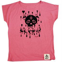 スカルハートドルマンTシャツ(16Z2-1001)PINK
