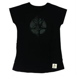 ▲BLACKプリント▲バフォメットAラインTシャツ(17Z-06)