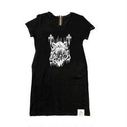 【ラインストーンお好きな色に】トリプルアイズスカルBigTシャツ(16Z1-1006)