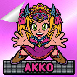 第2弾【鏡のアッコちゃん】「武装AKKOアッコ」(特別アルミ桃・Wシール)