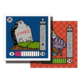 第1弾 妖怪レスラー【シール版】(赤プリ・レッド) ゾンビの墓(ゾンビマン)