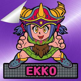 第2弾【鏡のアッコちゃん】「武装EKKOEエッコ」(特別アルミ紫・Wシール)