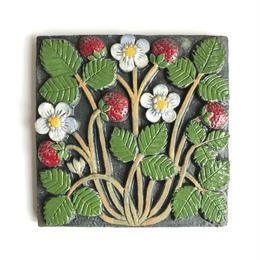 GUSTAVSBERG/Lisa Larson /Jordgubbar(グスタフスベリ/リサ・ラーソン /いちご)壁掛け陶板 商品№152