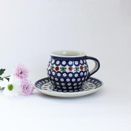 POLISH POTTERY(ポーリッシュポタリー)モスキート カップ&ソーサーA 商品№142