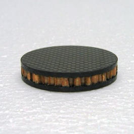 ドライカーボン+ノーメックスハニカム インシュレーター 15厚 <50角 or 50Φ> ※受注生産(1週間~10営業日)