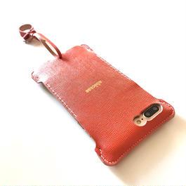 【abiwork】iPhone7 Plus nswj  オレンジウォレットジャケット