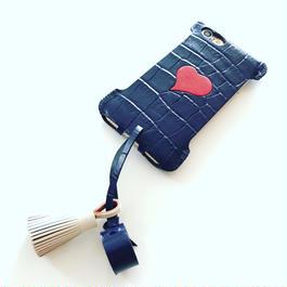 1点物【abicasePro】iPhone7 sj  クロコ型押しタッセルジャケット