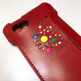 【1点物】iPhone SE swj ウォレットジャケット/林檎印