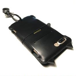 【1点物】【abicaseflap】iPhone7Plus 黒猫手帳ジャケット