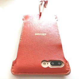 サンプルセール【abicasePro】iPhone7 Plus nswj  オレンジウォレットジャケット
