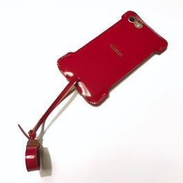限定品【abicasePro】iPhone7 sj カーマインレッドコードバン