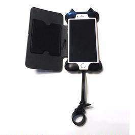 【予約受付】【abicase flap】iPhone7 黒猫手帳ケース
