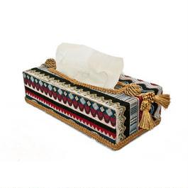 Tribal Jacquardティッシュボックス