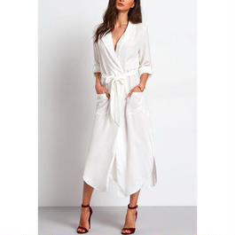 Beltedシャツドレス