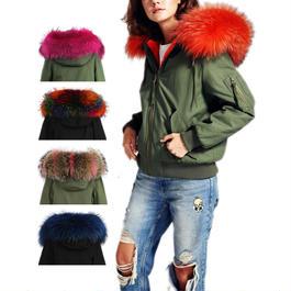 カラーを組み合わせてセミオーダー*Colored Fur フード付きMA1ジャケット《ユニセックス》