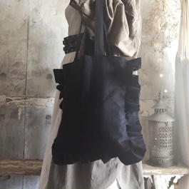 cotton linen bag (black)
