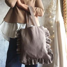 cotton linen bag (mocha)