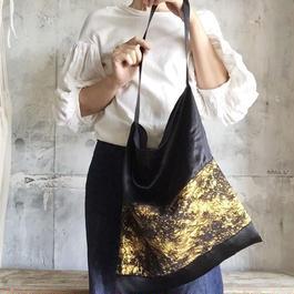 bicolor satin bag