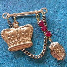vintage charm brooch (no.1)