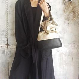 leather & canvas  bag (black)