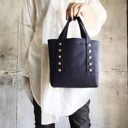 canvas tote bag medium (navy)