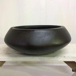 平鉢 ダークブラウン Lサイズ 植物鉢